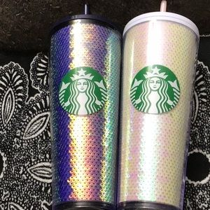 2 Starbucks 2020 venti glitter tumblers